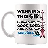 TKMSH Protect by Aikido Aikidoka Women Instructor Gift Mug Coffee Cup Mugs | Master...