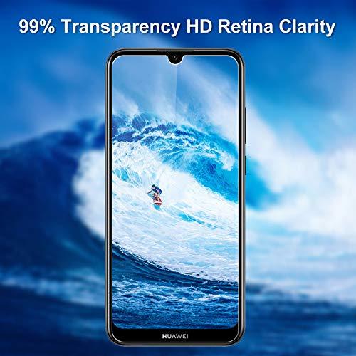 Aspiree 3 Stück Panzerglas Schutzfolie kompatibel mit Huawei Y6 2019, Gehärtetes Glas Displayschutzfolie mit 9H Härte, HD Ultra Klar, Anti-Kratzen, Anti-Öl, Displayschutz Folie für Huawei Y6 2019