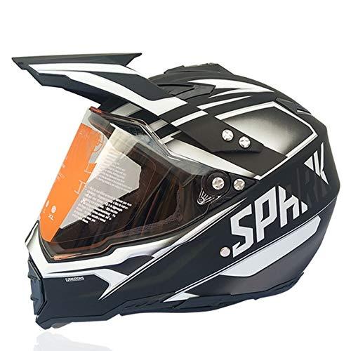 Men Off-Road Motocross Helmets Transparent Visor Outdoor Full Face Helmet Motorcycle Helmet Motorbike Cap