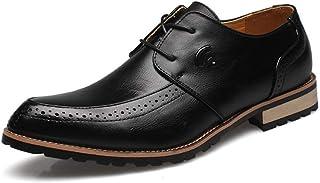 [ジョイジョイ] メンズローファー ビジネスシューズ スリッポン 革靴 カジュアル モカシン 紳士靴 フォーマル 歩きやすい 防滑 ウィングチップ ビンテージ 軽量 お兄系 ストリート 春 ブラック