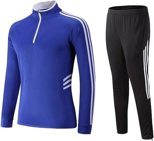 Costume De Sport Groupe De VêteHommests De Sport Costume De Sport Manches Longues @ 995 Bleu Et Blanc avec Un Pantalon Noir Et Blanc XXXXL