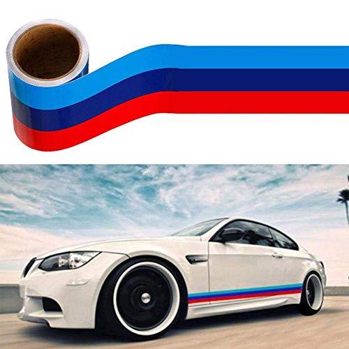 JUST N1 M-Colored Stripe Sticker car Vinyl Decal for BMW M3 M4 M5 M6 3 5 6 7 Series,Auto Sticker(116 5.9in)