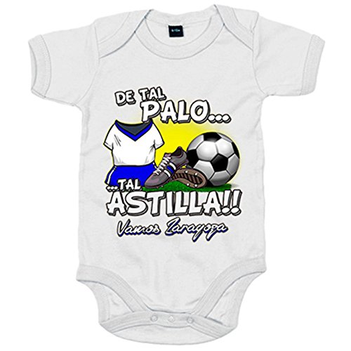 Body bebé De tal palo tal astilla Zaragoza fútbol - Blanco, 6-12 meses