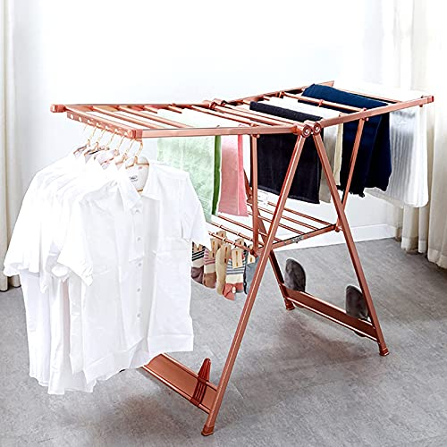 BaiJaC drying racj, Pull-Out Clothes Dryer, Drying Rack with Plenty of Space and Windbreak for Laundry Space Saving Clothes Airer for Utility Room & Kitchenmade of Aluminum Alloy
