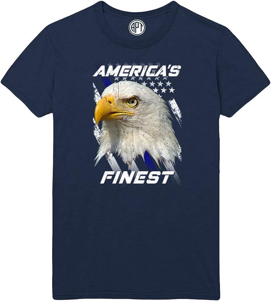 America's Finest Eagle Flag Blue Line Printed T-Shirt