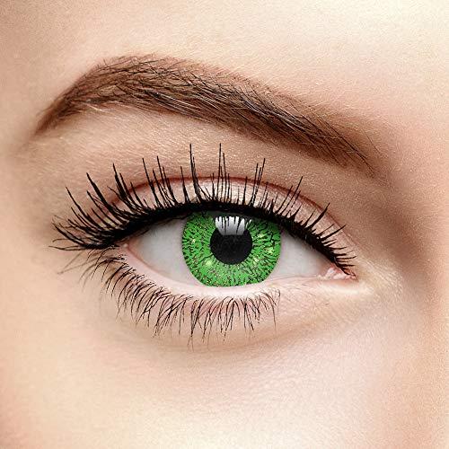 Farbige Kontaktlinsen Ohne Stärke Glimmer Grün (90 Tage)