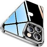 CASEKOO iPhone 12 Pro 用 ケース iPhone 12 用 ケース クリア 黄変防止 耐衝撃 米軍MIL規格 耐久 高透明 SGS認証 カバー ストラップホール付き ワイヤレス充電対応 2021年 アイフォン 12/12Pro 用 6.1 インチ ケース(クリア)