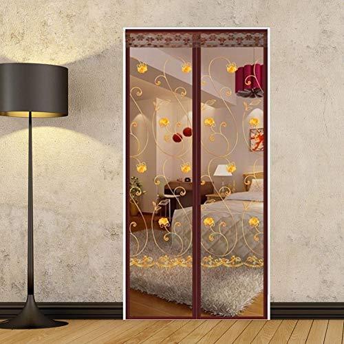 Fliegengitter Magnetvorhang 100 * 210cm Einfache Sommertür Vorhang Set Bestickte Anti-mücke Magnetische Weiche Vorhang Küchentür Vorhang Garn Tür