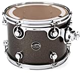 DW Performance Series Mounted Tom - 9 Inches X 12 Inches Pewter Sparkle FinishPly