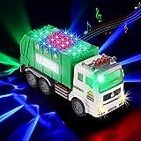 Xruison Camión de Basura 4D Luminoso y Sonidos Camion Grande Eléctrico Juguete Vehiculos Juguete Coches Temprana Educación Autos Juguete Regalos para Niños Chico Muchachas 3 4 5 6