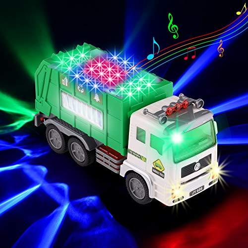 Xruison Camión de Basura 4D Luminoso y Sonidos Camion Grande Eléctrico Juguete...