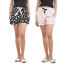 Nite Flite Womens 2 Pairs Of Shorts - Pack of 2