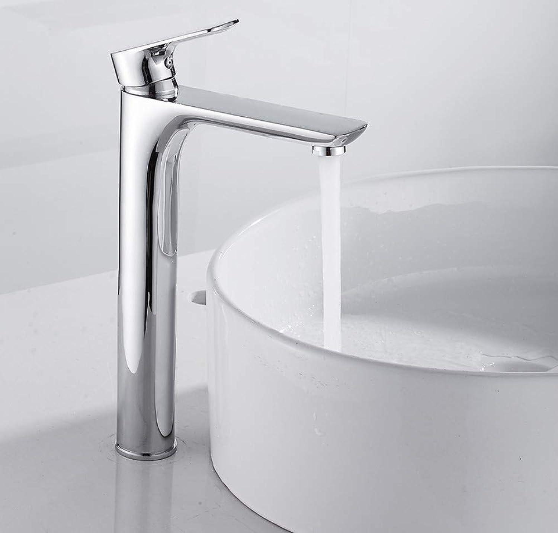 Basin Faucet Faucet Tall Modern Counter Top Mixer Taps Bathroom Sink Tall Chrome Faucet Deck Mounted Single Hole