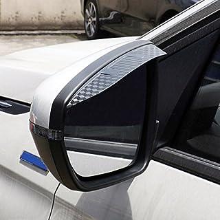HIGH FLYING Äußere Kunststoff Rückspiegel Seitenspiegel Windabweiser 2 Stück für 3008 5008 2018 2020