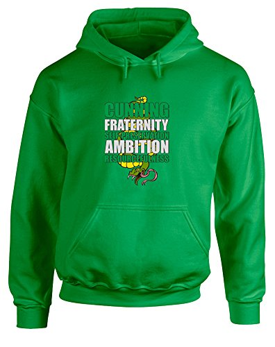 Brand88 Sneaky Snake, Printed Hoodie - Irish Green/Transfer 2XL