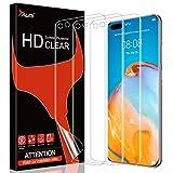 TAURI 3 Pack HD Clear Screen Protector de Pantalla 3D Cobertura Completa TPU Compatible con Huawei P40 Pro Cobertura Máxima, Sin Burbujas Sin Aplicación Anti-Huellas Fácil Instalar