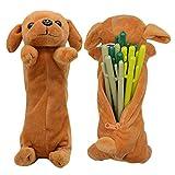 Sacchetto della penna della matita di figura del cane 3D, regali molli svegli del giocattolo della peluche per i bambini (Golden retriever)