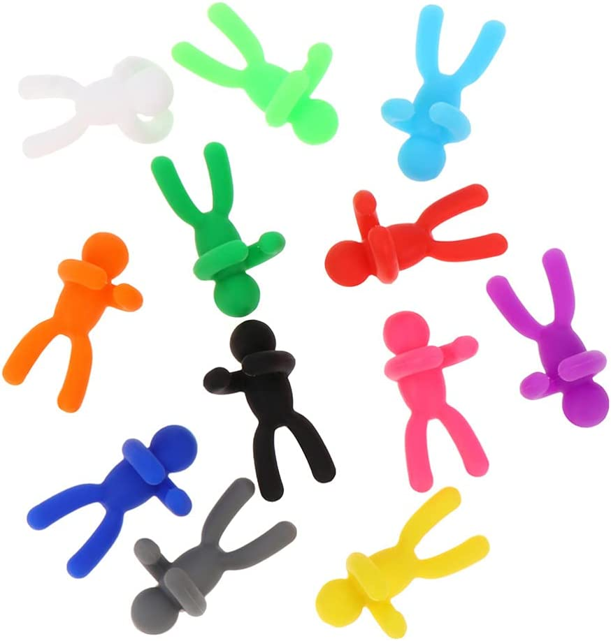 Yardwe 24Pcs sold out Super-cheap Silicone Glass Charms Figure Markers Tiny