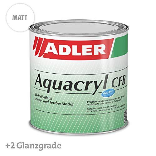 Aqua-Cryl CFB - Opaca, incolore 125 ml - Vernice incolore per legno a base d'acqua, molto resistente, vernice trasparente per legno in ambiente interno