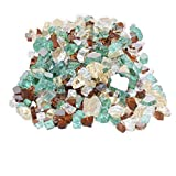 Skyflame 10-Pound Blended Fire Glass for Fire Pit Fireplace Landscaping, 1/2-Inch