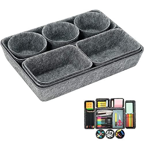 Schreibtisch Schubladen Organizer,8 Stück Ordnungssystem Aus Filz,Multifunktional Aufbewahrungsbox,Multifunktional ufbewahrungsbox für Küche,Büro,Schminktisch Kosmetik