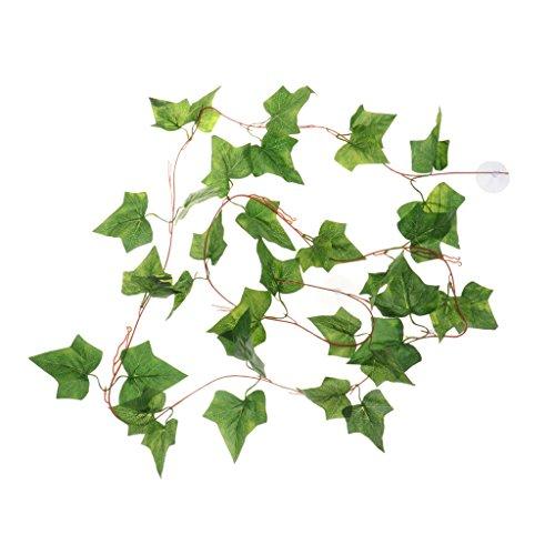 F Fityle Terrario Artificial Trepando Hiedra Guirnalda Plantas Falsas con Ventosas, Verde para El Banquete De Boda Jardín Vegetación Al Aire Libre Decoración D