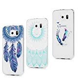 3x Funda para Samsung Galaxy S6, Carcasa Silicona Gel Case Ultra Delgado TPU Goma Flexible Cover...