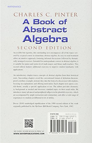 A Book of Abstract Algebra: Second Edition (Dover Books on Mathematics)