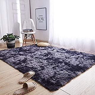 2020 Home Bedroom Doormat Floor Solid Soft Carpets Area Rugs (100x160cm/39.37x62.99in, Deep Gray)