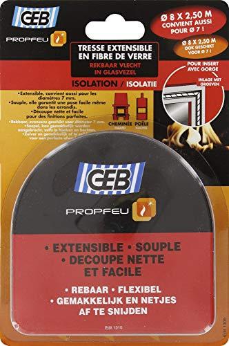 GEB 821522 Blister de Tresse Ø 8 à 7 mm Longueur 2,5 m Clair