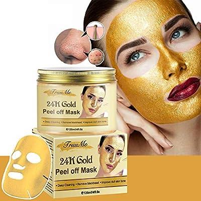 24k Gold Face Mask, Blackhead Mask, Peel Off Face Masks, Blackhead Remover Masks, Gold Face Mask for Anti Aging Anti Wrinkle Facial Treatment Pore Minimizer, Acne Scar Treatment & Blackhead Remover from Truume