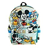 "Mickey Mouse Deluxe Oversize Print Large 16"" Backpack with Laptop Compartment - A19757"