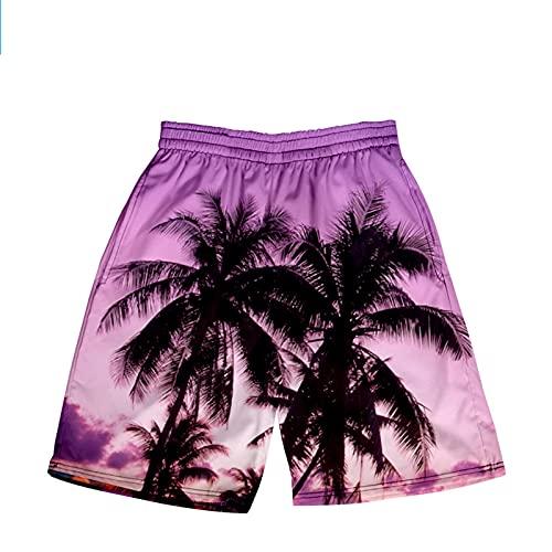 Pantalones de Playa de Verano, Troncos de natación de Surf Pantalones de Playa Secado rápido, para Playa de Ocio,N,L