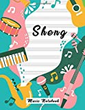 sheng music notebook: clefs notebook, blank sheet music (8.5 x 11 in / 21.6 x 27.9 cm) 120 pages,120 full staved sheet, music sketchbook, music notation | gifts standard for students / professionals