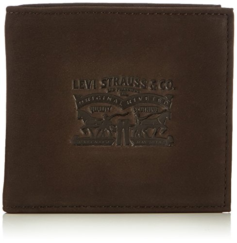 LEVIS FOOTWEAR AND ACCESSORIES Vintage Two Horse Bifold, Monedero Unisex Adulto, Marrón (Dark Brown), 2x10x11 cm (W x H x L)