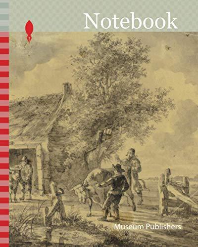 [画像:Notebook: Farm with Men and Cows, n.d., Possibly Ferdinand Kobell, German, 1740-1799, Germany, Brush and gray and blue wash over graphite on tan wove paper]