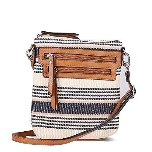 Women's Bueno of California, Canvas Print Crossbody Handbag TAN/BEIGE MIX NS