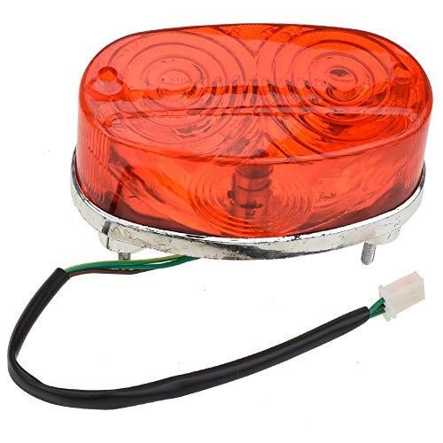 HIAORS 3 Wires Rear Tail Lights for Kids Chinese ATV 50cc 70 90 110 125 150 200 250cc Chinese TaoTao Roketa SunL JCL Coolster 3125 3125B 3125R Quad 4 Wheeler