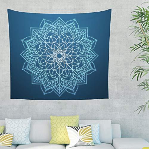 Zhouwonder Intricate Tapiz para colgar en la pared con decoración hippie para sala de estar, dormitorio, decoración de dormitorio, color blanco, 150 x 129 cm