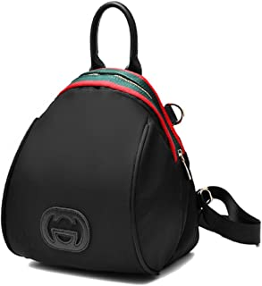 Sandylu Women's Leather Backpack Fashion Bag with Colorful Zipper, Black