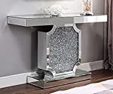 ACME Furniture Noralie Console Table, Mirrored and Faux Diamonds