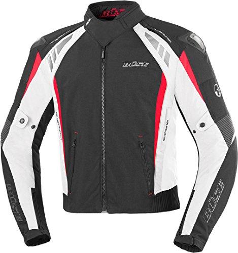 Büse B.Racing Pro Motorrad Textiljacke Schwarz/Weiß/Rot M