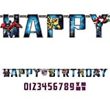 amscan Transformers Add-an-Age Letter Banner