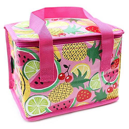 Fashion Stationery Girls Fold Up Lunch Box Kids Lunch Bag with Bright...