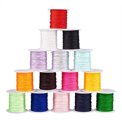 PandaHall 15 Colori 15 Rolls Hilo de Nylon para Hilo