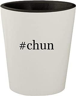 #chun - White Outer & Black Inner Hashtag Ceramic 1.5oz Shot Glass