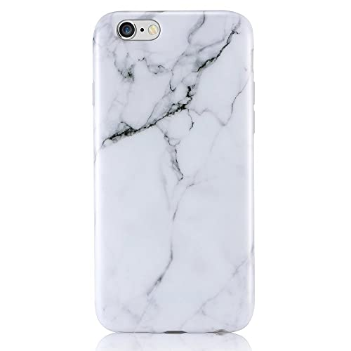 b916c8f93d iPhone 6 6s Case, Leminimo White Marble Design, Slim TPU Flexible  Shockproof Anti-