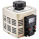 VEVOR Trasformatore variabile Trasformatore di tensione di alimentazione 500VA Convertitore 0-300 V 220 V CA 50 Hz con misuratore di uscita di tensione e bobina di rame incorporata