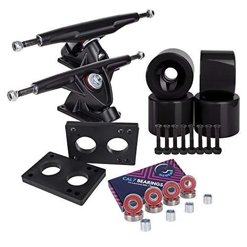 Cal 7 Longboard Skateboard Combo Package with 70mm Wheels &
