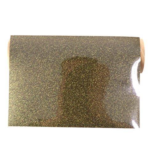 Flex Camiseta de textil pantalla para plotter 5 unidades DIN A4 – Glitter Black Gold – siser g0076: Amazon.es: Jardín